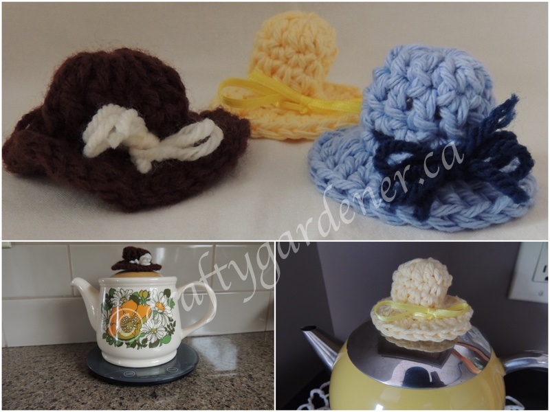 how to crochet pot handle hats at craftygardener.ca