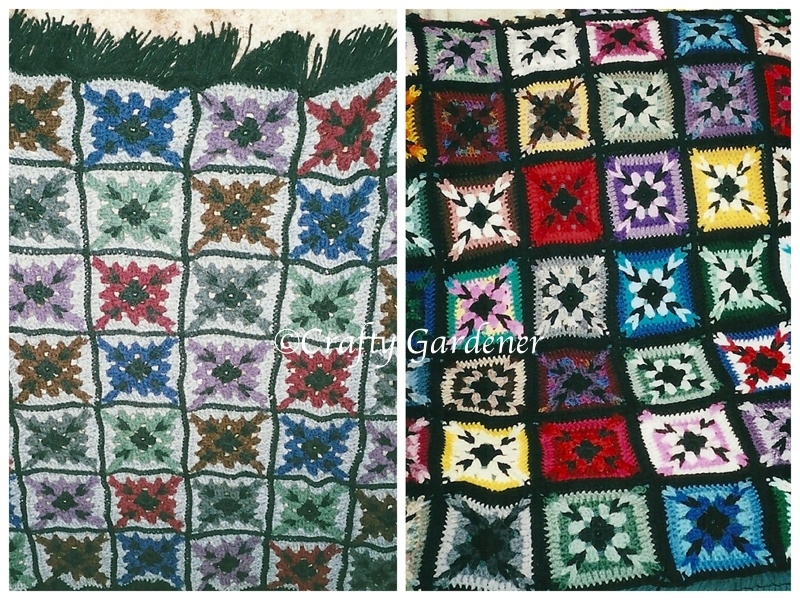 granny square afghans from craftygardener.ca