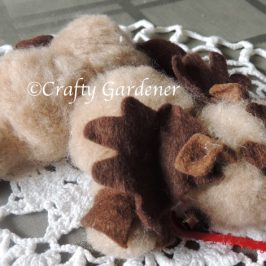 a tuckered out reindeer from craftygardener.ca