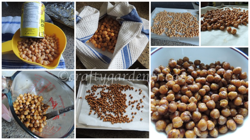 roasted chickpeas at craftygardener.ca