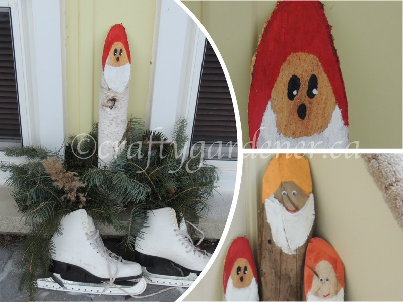 the Santa log at craftygardener.ca