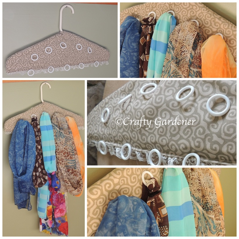 upcycle plastic coat hangers - craftygardener.ca