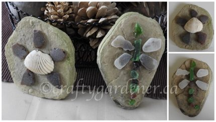 sea glass critters at craftygardener.ca