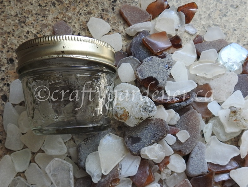 making a solar light jar at craftygardener.ca