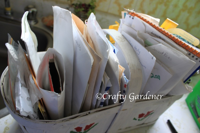 seed storage at craftygardener.ca