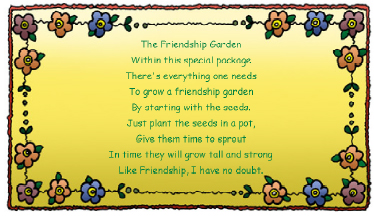 Seed Label Printable Friendship Garden