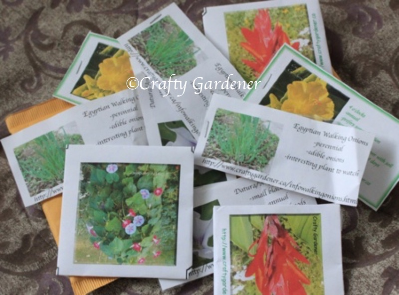 packets of seeds at craftygardener.ca