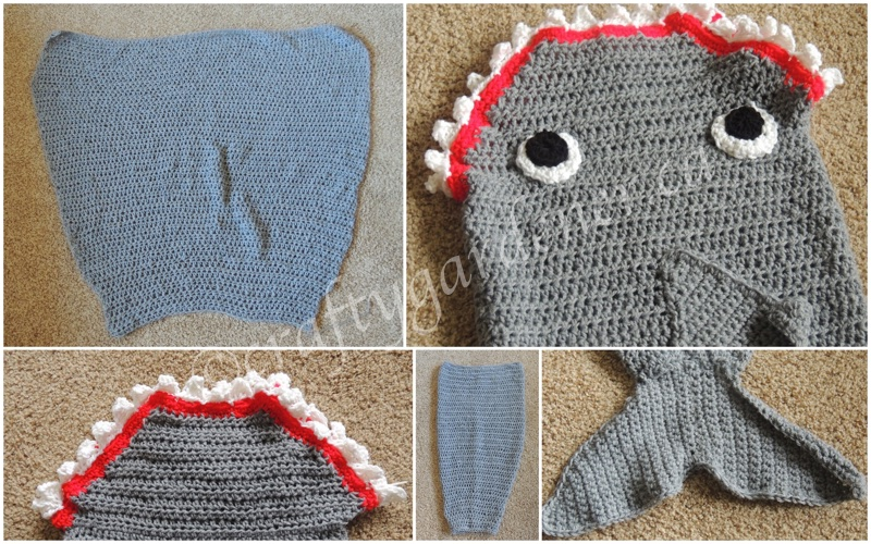 making a shark sack at craftygardener.ca