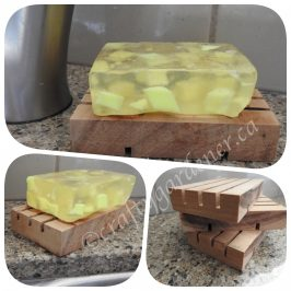 making a soap holder at craftygardener.ca