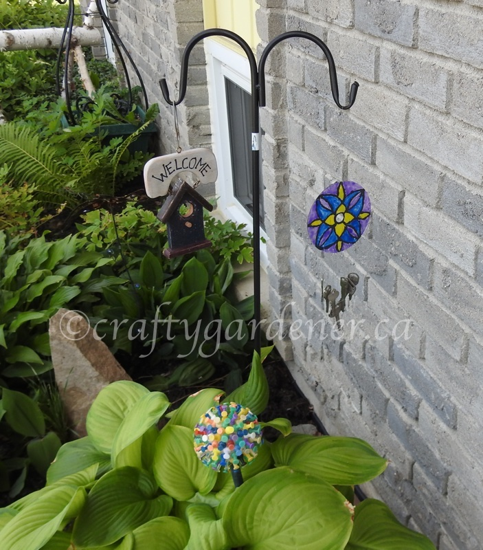 how to make a stained glass key chime at craftygardener.ca