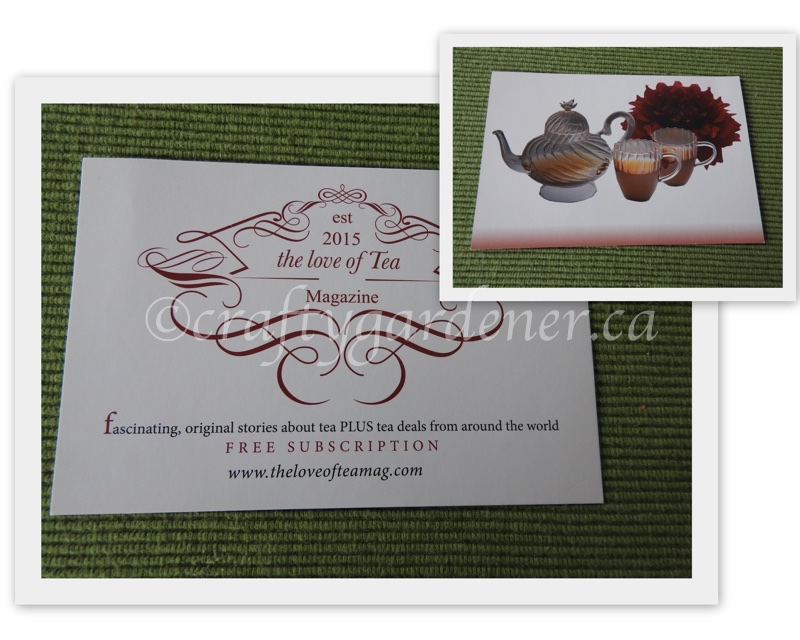 a 'tea'riffic prize at craftygardener.ca