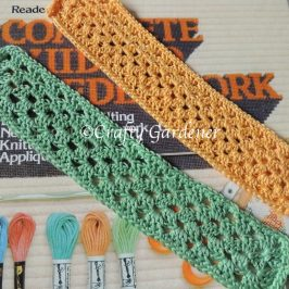 crochet bookmarker at craftygardener.ca