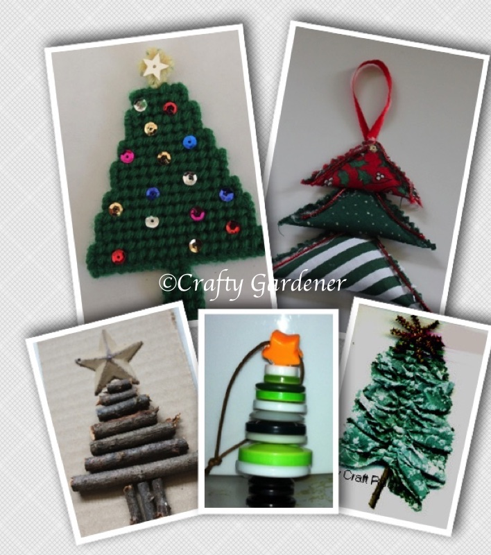 5 trees to make for the holidays at craftygardener.ca