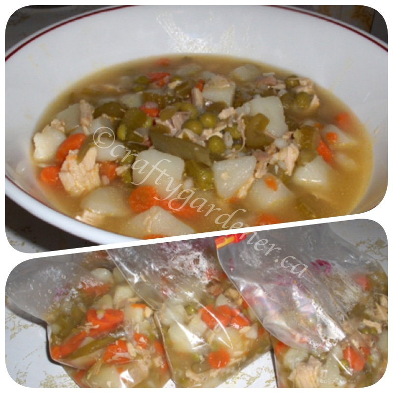 homemade turkey soup at craftygardener.ca
