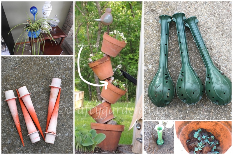 various watering systems at craftygardener.ca