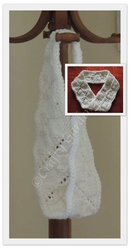 white mobius scarf at craftygardener.ca