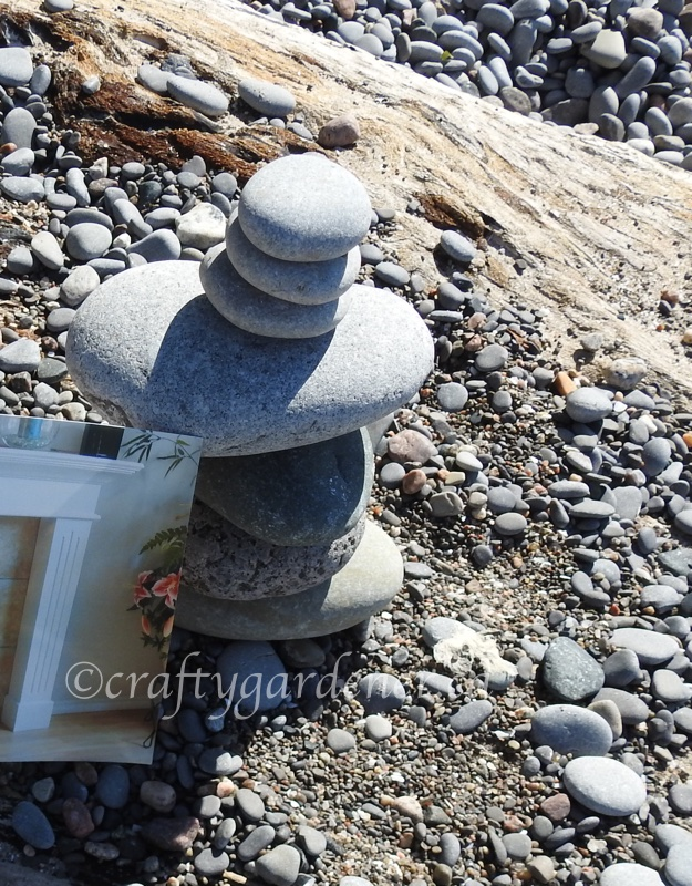 rock stacking at Wicklow Beach by craftygardener.ca