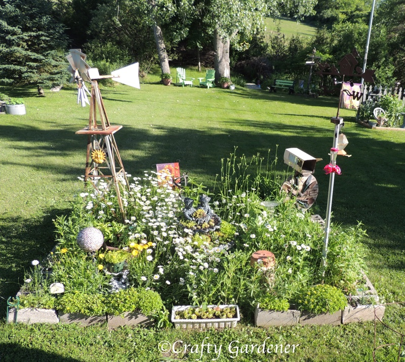 the windmill garden in mid June 2015 at craftygardener.ca