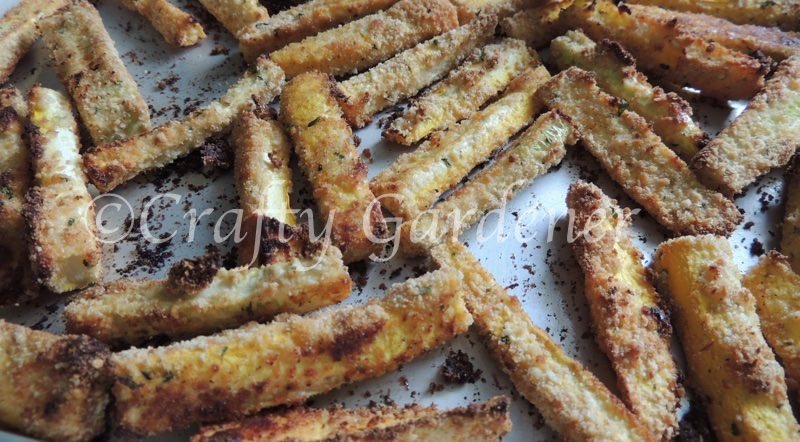making zucchini fries at craftygardener.ca