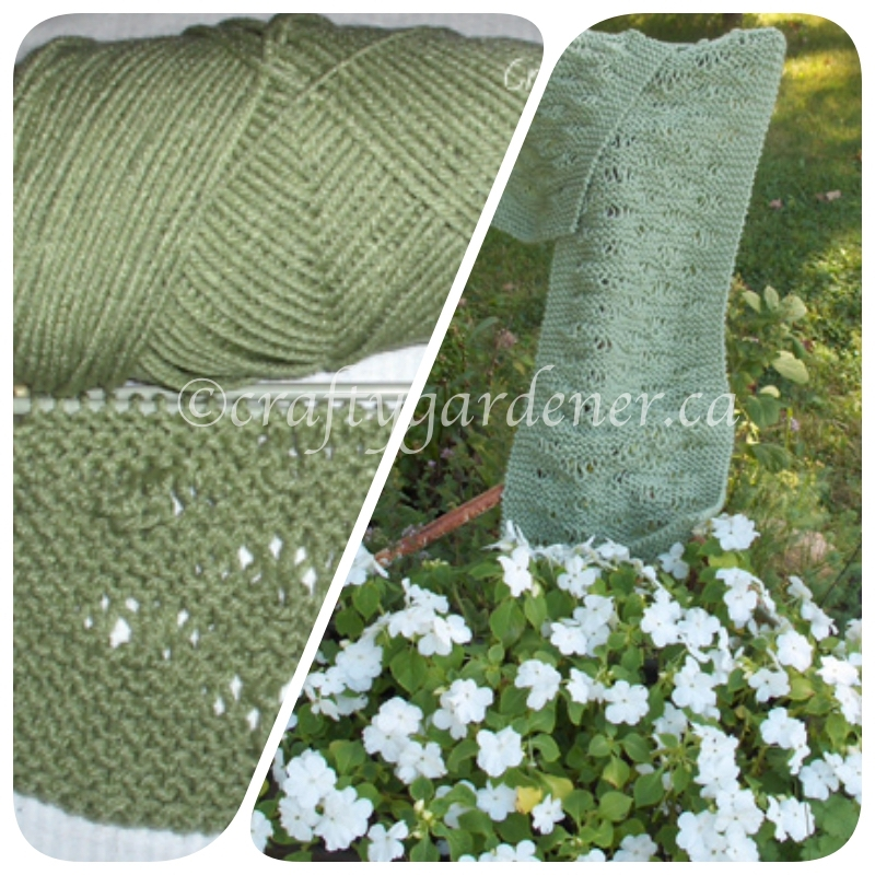 the one stitch lace scarf at craftygardener.ca