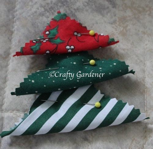 making fabric trees at craftygardener.ca