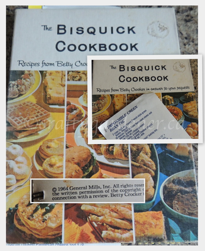 A Betty Crocker Bisquick cookery book from 1964 at craftygardener.ca