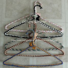 braided coat hangers at craftygardener.ca
