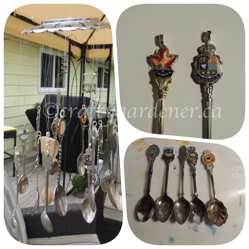 making a Canadian spoon chime at craftygardener.ca