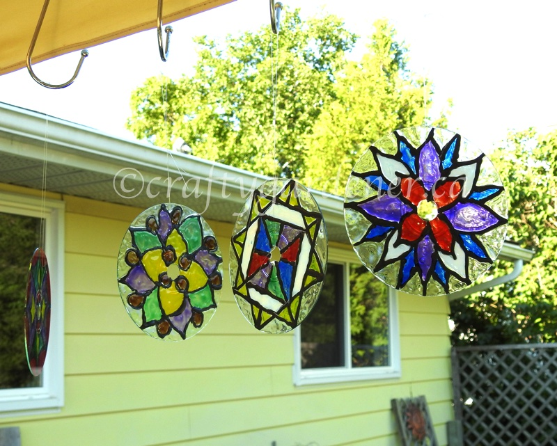 how to make a stained glass cd at craftygardener.ca