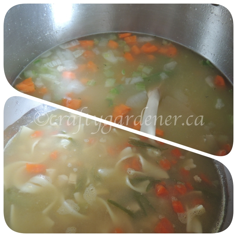 making chicken soup at craftygardener.ca