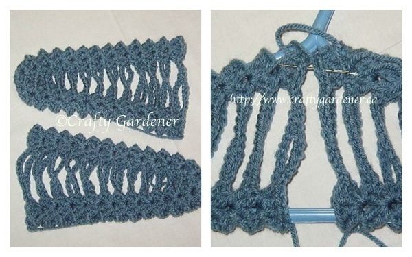 crochet covered coat hangers from https://www.craftygardener.ca