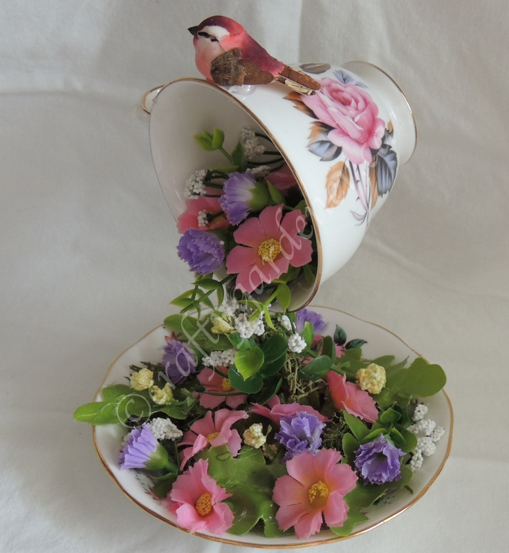 making a floating teacup at craftygardener.ca