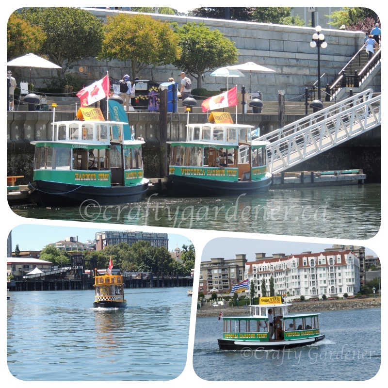 the harbour taxis at Victoria Harbour, British Columbia