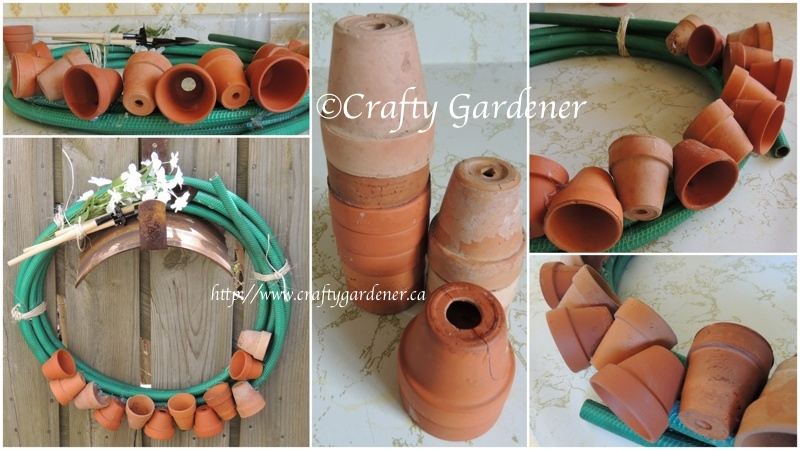 a hosepipe wreath by Crafty Gardener