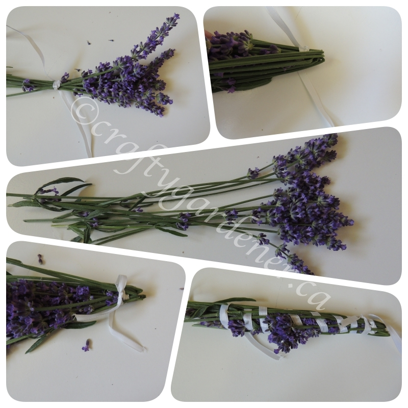 how to make lavender wands at craftygardener.ca
