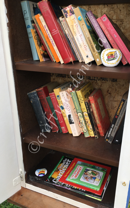 a little free library found by craftygardener.ca