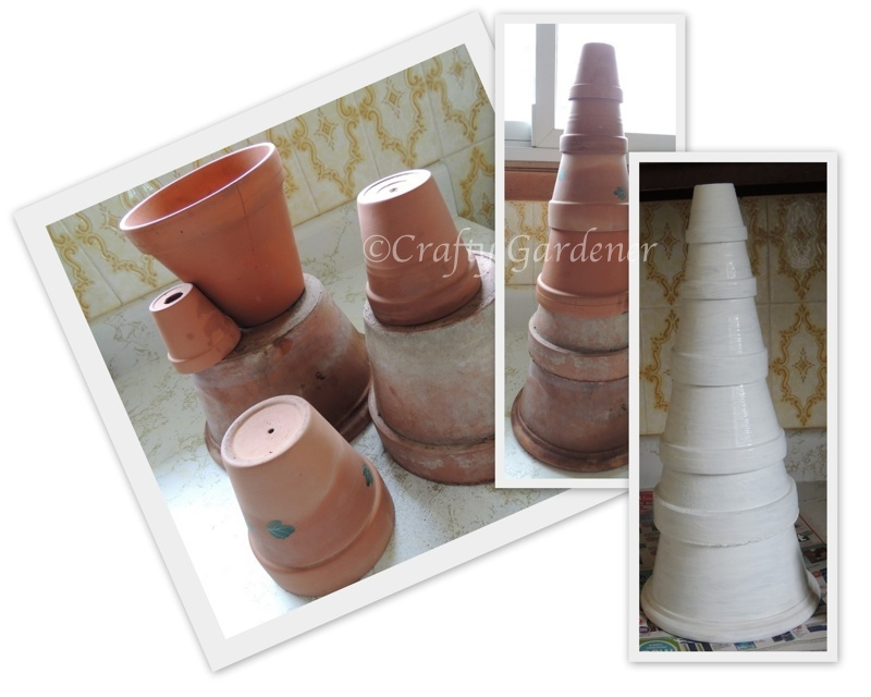 clay pot solar lighthouse from craftygardener.ca
