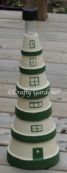 the claypot lighthouse at craftygardener.ca