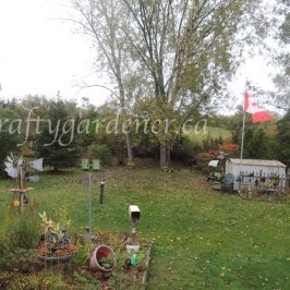 the back garden in mid October at craftygardener.ca
