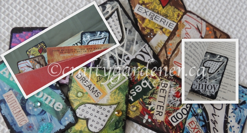 How to upcycle playing cars into kindness cards at craftygardener.ca