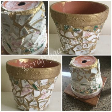 A Mosaic Flower Pot