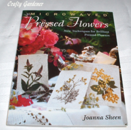 a book about pressing flowers at craftygardener.ca