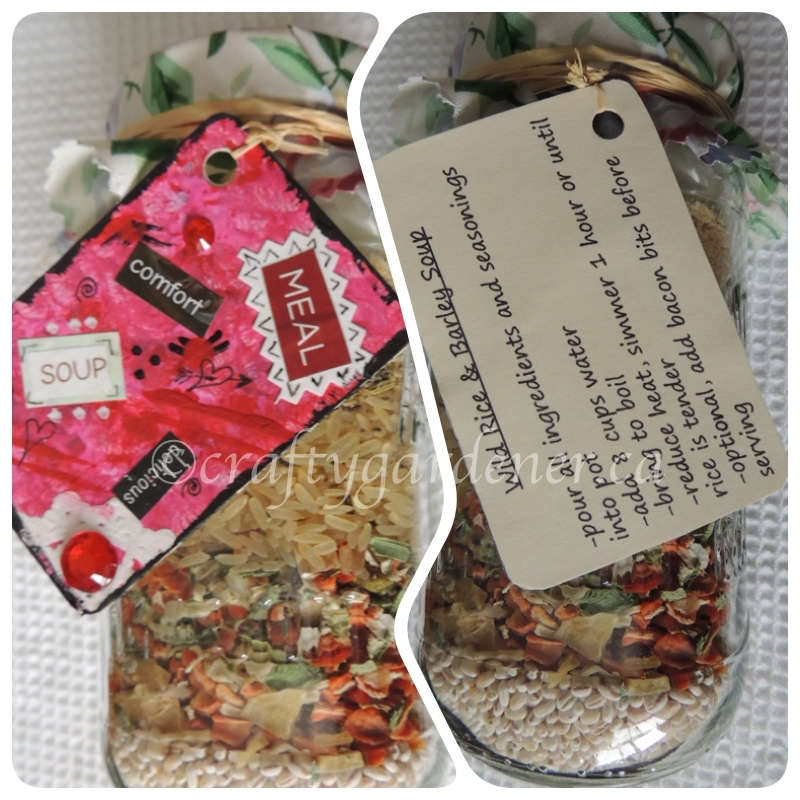 gifts in a jar made by craftygardener.ca