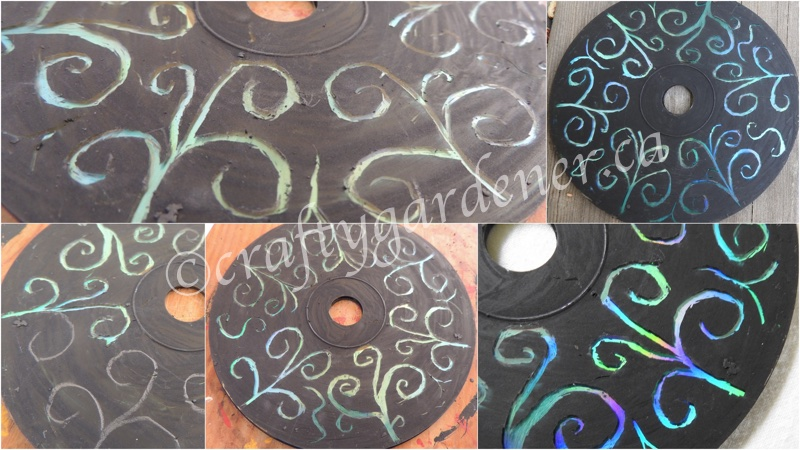 how to do scratch art on a cd at craftygardener.ca