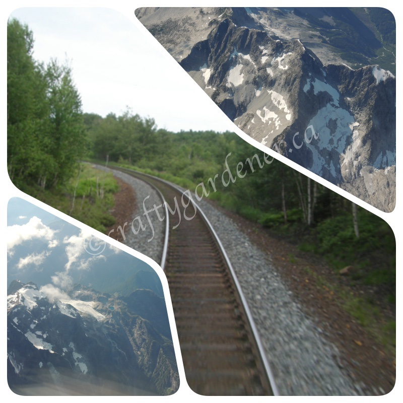 travelling by train and plane to British Columbia
