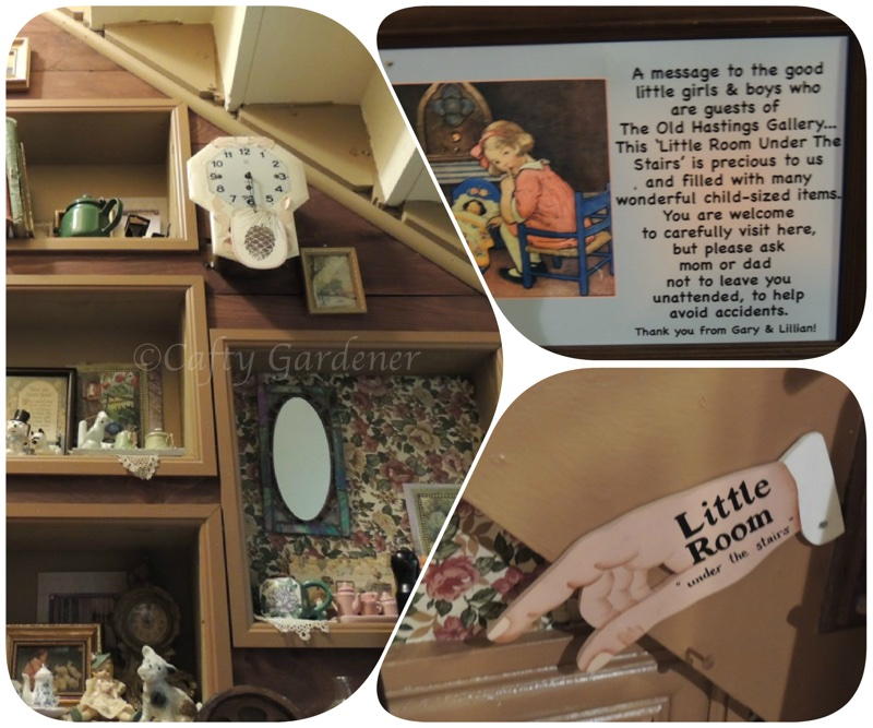 the little room under the stairs at The old Hastings Mercantile and Gallery in Ormsby, Ontario