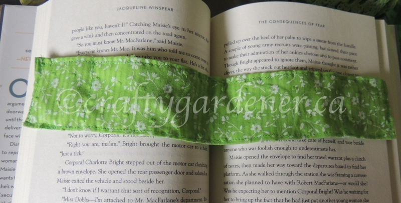 how to make a weighted bookmark at craftygardener.ca