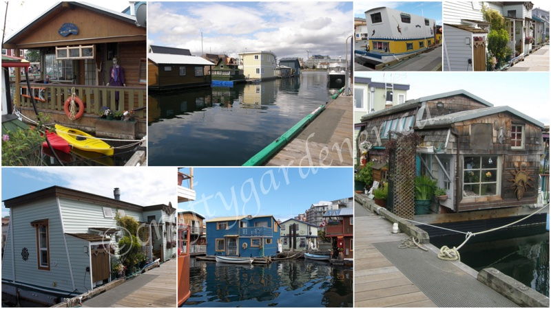 the float homes at Victoria harbour, British Columbia