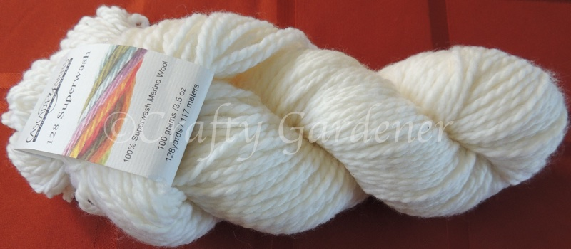 Yarn for a white cowl at craftygardener.ca
