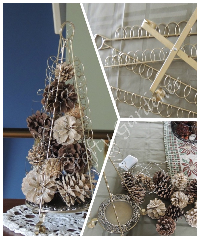 a little tree filled with pinecones at craftygardener.ca